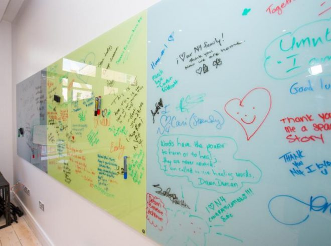 Messages left for and from the N4 family. (Credit: Diarmuid Greene)