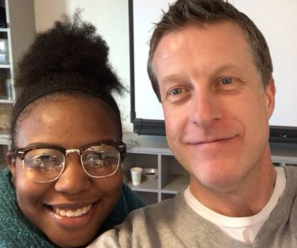 Community Partnership School (CPS) alumna Ishara Hall and Narrative 4 Director of Global Programs Lee Keylock led the faculty and staff of CPS through their first story exchange last month.