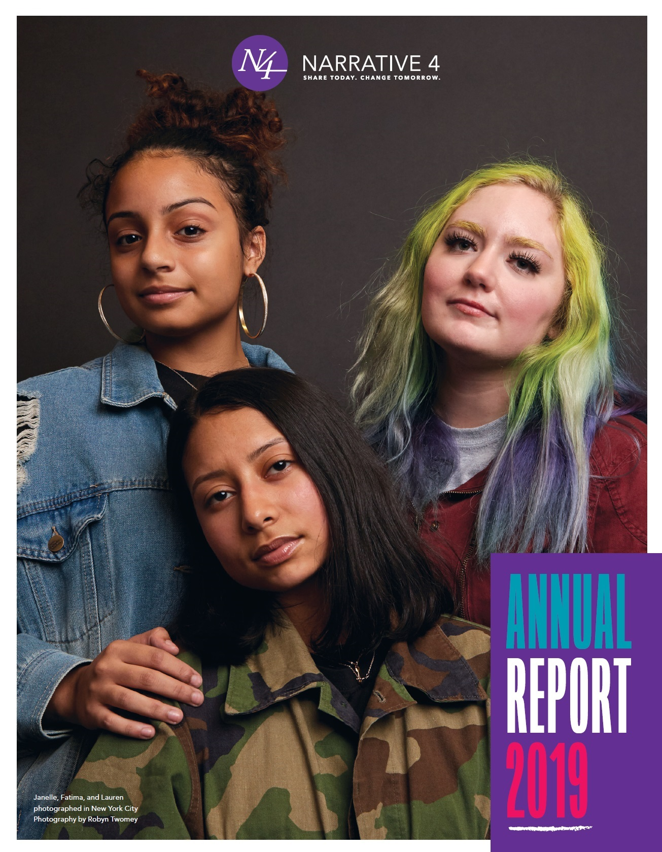 Narrative 4 Annual Report 2019 Cover